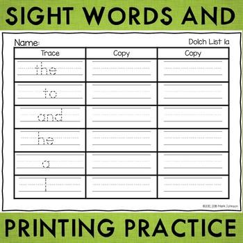 practice handwriting