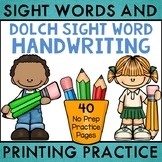 Dolch Sight Word Handwriting Practice Sheets