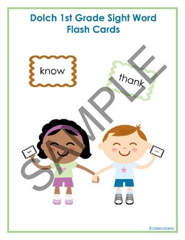 Dolch Sight Word High Frequency Flash Cards - Bundle - Grades 4k-3