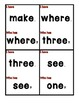 Dolch Sight Word I Have, Who Has (Pre-Primer)