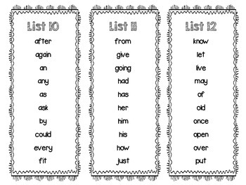 RTI: Dolch Sight Word Intervention Pack (1st Grade)