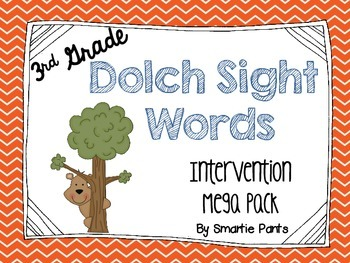 RTI: Dolch Sight Word Intervention Pack (3rd Grade)