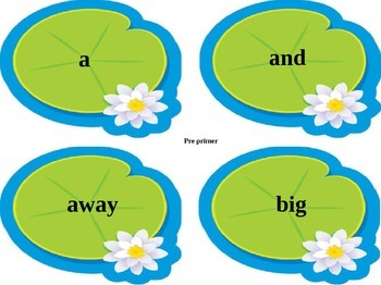 Dolch Sight Word Leap Frog!