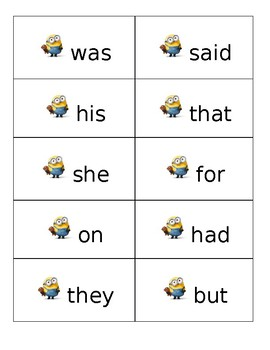 Dolch Sight Word List 1
