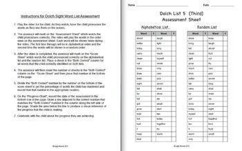 Dolch Sight Word List 5 (Third) Video Flash Cards (D'nealian)