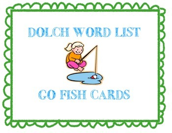 Dolch Sight Word List {Pre-Primer-Third Grade} - Go Fish Cards