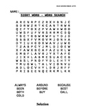 Dolch Sight Word List Second Grade Word Searches
