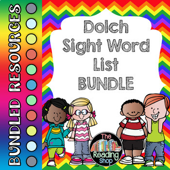 Dolch Sight Word List and Word Cards Bundle