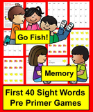 Sight Words Go Fish - Pre Primer