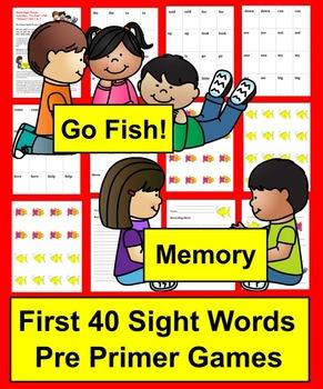 Sight Words Go Fish - Pre Primer