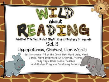 Dolch Sight Word Mastery Program - Wild About Reading Animal Words SET 3