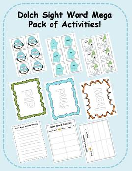 Dolch Sight Word Mega Pack of Literacy Center Activities