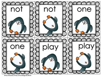 Sight Words 220 Memory Games Snap! Penguin Edition