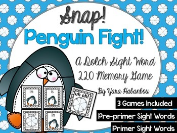 Dolch Sight Word Memory Games {Snap! Penguin Edition}