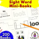 Sight Word Mini Books (Bundle) -Practice Writing/Reading & Building Sight Words
