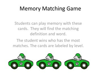 Dolch Sight Word Multiple Meaning Memory Game