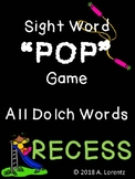 Dolch Sight Word POP Game Recess Theme