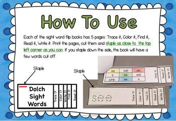Sight Word PRIMER FLIP BOOKS