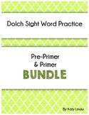 Dolch Sight Word Pages: PrePrimer & Primer Bundle
