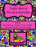 Dolch Sight Word Phrase Bundle: Pre-Primer - Third Grade