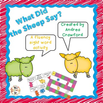 Dolch Sight Word Phrase Game PrePrimer-1 ~ What Did the Sheep Say?