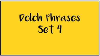 Dolch Sight Word Phrase Strips, Sets 1 through 11!