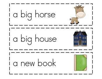Dolch Sight Word Phrases with Picture Cues