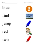 #2. Dolch Sight Word Picture Match (All Levels)