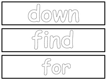 Dolch Sight Word Play-Do Cards
