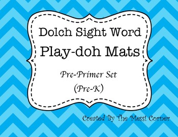 Dolch Sight Word Play-Doh Mats - Pre-Primer List