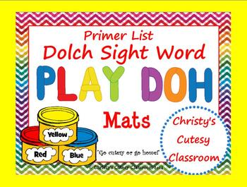 Dolch Sight Word Play Doh Mats--Primer List