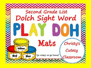 Dolch Sight Word Play Doh Mats--Second Grade List