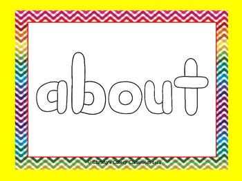 Dolch Sight Word Play Doh Mats--Third Grade List