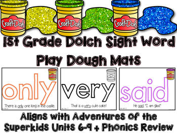 Dolch Sight Word Play Dough Mats for Superkids Units 6-10