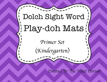 Dolch Sight Word Play-doh Mats - Primer List