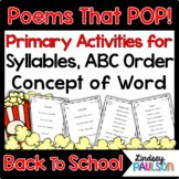 Back To School Poems & Shared Reading