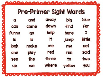 Dolch Sight Word Posters 3170261 on Worksheets For Teachers