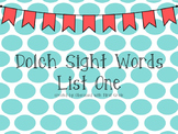 Dolch Sight Word Powerpoints--Editable!