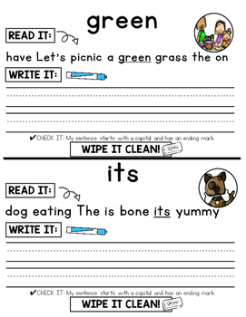 Dolch Sight Word Practice {2nd Grade Words}