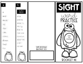 Dolch Sight Word Practice Sticker Booklets