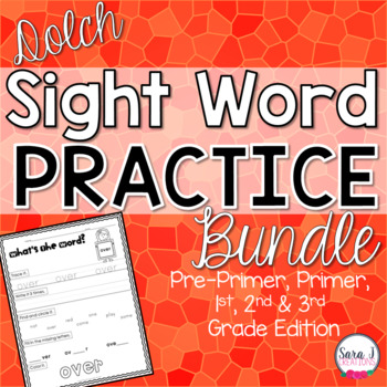 Dolch Sight Word Bundle