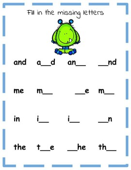 Dolch Sight Word Practice (Pre-Primer)