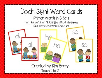 Dolch Sight Word Practice - Primer Words