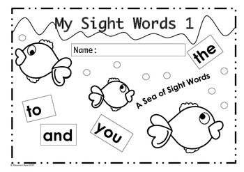 Dolch Sight Word Practice Sheets BUNDLE! Lists 1-4.