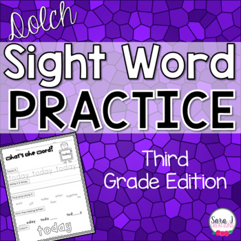 Dolch Sight Word Practice - Third Grade Lists