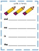 Dolch Sight Word Practice (free sample)
