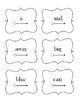 Dolch Sight Word Pre-Primer Cards