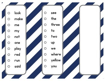 Dolch Sight Word Pre-Primer Sticker Book