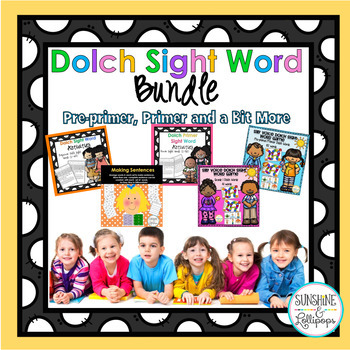 Dolch Sight Word Pre-Primer and Primer Activity BUNDLE