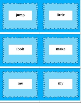 Sight Word Vocabulary Pre-Primer Flash Cards w/ FREE Student Assessment Sheet